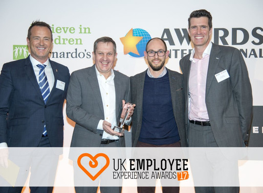3x winners at the employee experience awards 2017