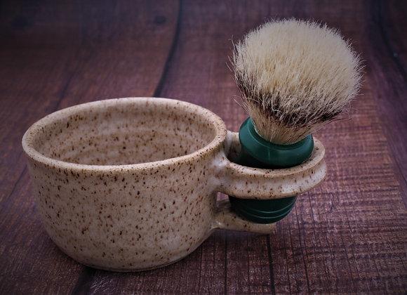 Shaving Mug with badger hair brush