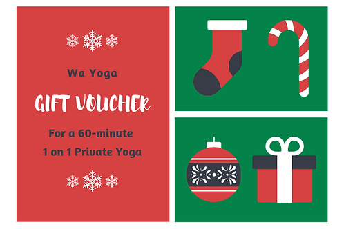 Gift Voucher for a 60-minute Private Yoga class (1 on 1)