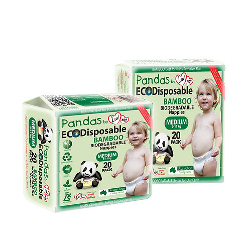 Luv Me Eco Bamboo Disposable Nappies - Medium (6-11kg)