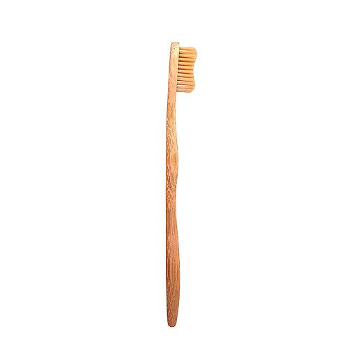 Bamkiki Bamboo Toothbrush, Adult – Naturel