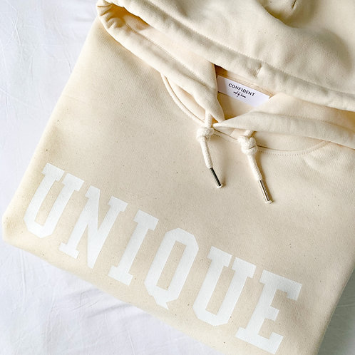 UNIQUE Hoodie Cremeweiss