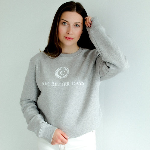 FOR BETTER DAYS Sweatshirt Grau