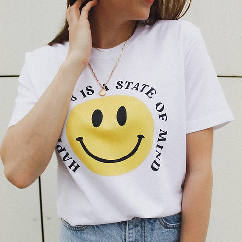 HAPPINESS SMILEY T-Shirts Weiß