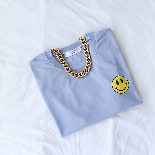 SMILEY Vintage T-Shirt Hellblau