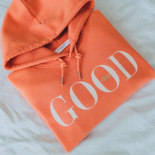 GOOD VIBES Hoodie Melon Orange