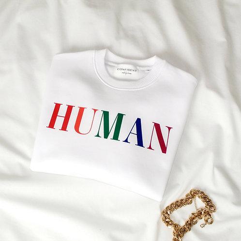 HUMAN Sweatshirt Weiß