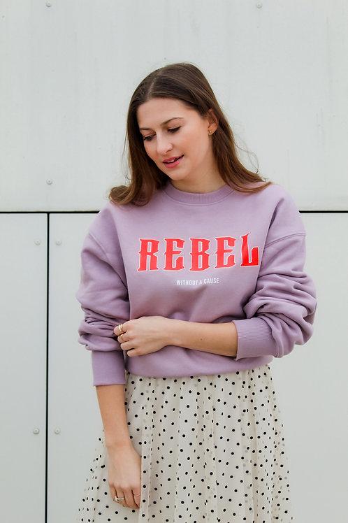 REBEL Oversized Sweatshirt Flieder
