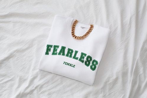 FEARLESS FEMALE Sweatshirt Weiß