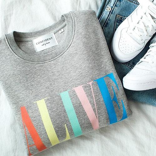 ALIVE Sweatshirt Grau