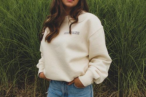 GIRL GANG Sweatshirt Natural White