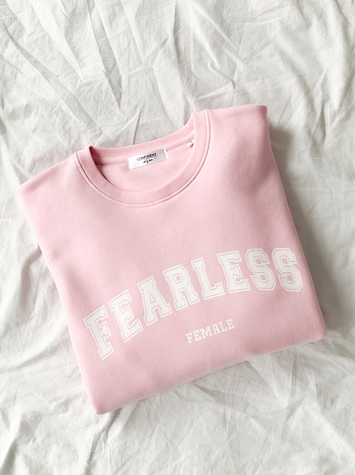 FEARLESS FEMALE Sweatshirt Rosa