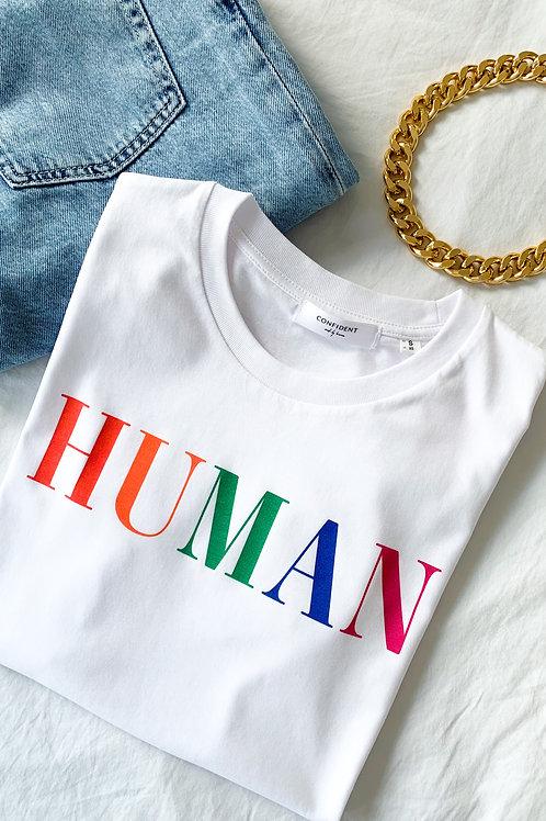 HUMAN T-Shirt Weiß
