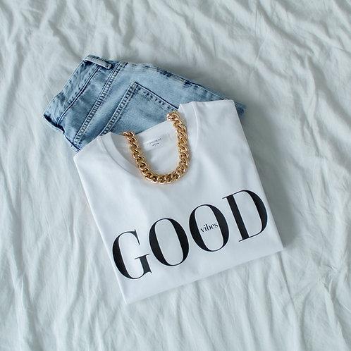 GOOD VIBES T-Shirt Weiß