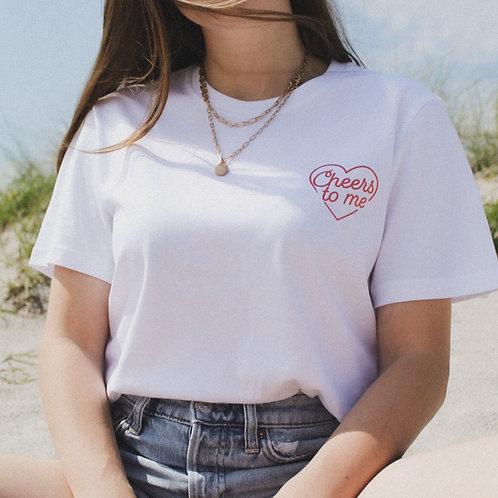 CHEERS T-Shirt Weiß