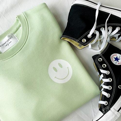 SMILEY Sweatshirt Pastellgrün