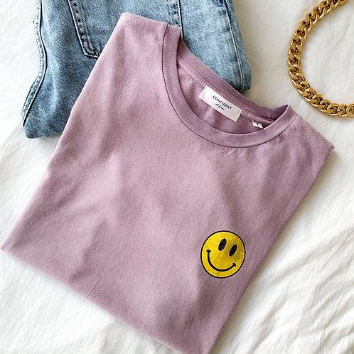 SMILEY Vintage T-Shirt Flieder