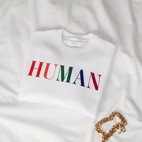 HUMAN Oversized Sweatshirt Weiß