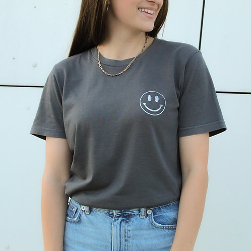 SMILEY Vintage T-Shirt Anthrazit