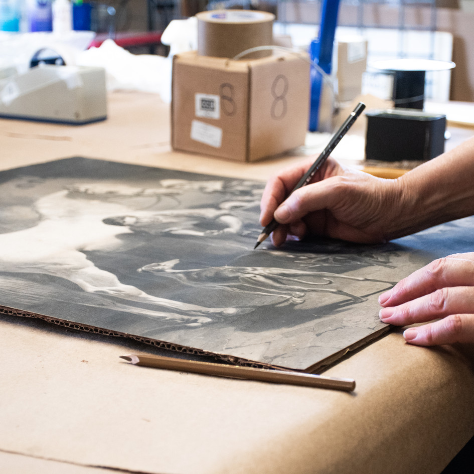 Expert assessments on-site and pack out of your damaged treasures. This includes custom framing, as well as, climate controlled storage.