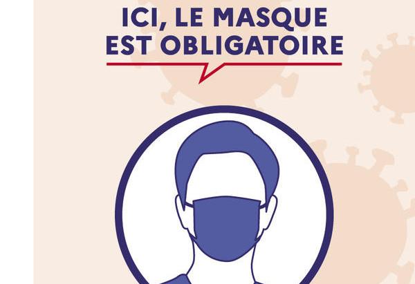 Port du masque obligatoire.