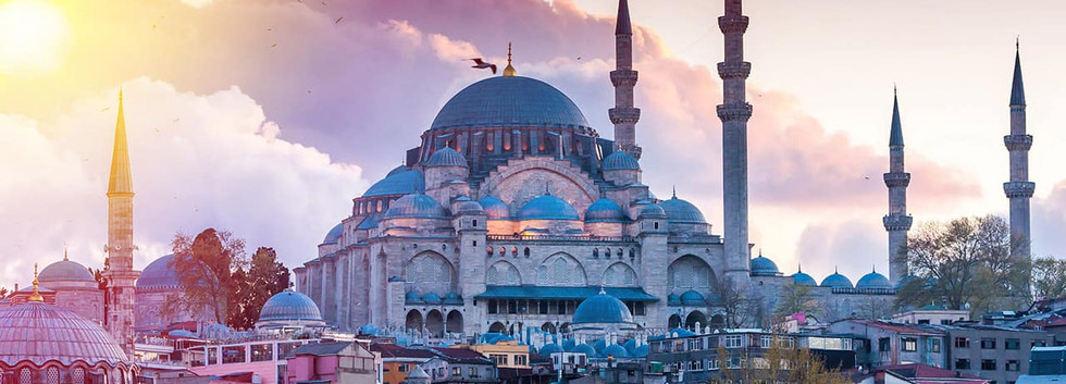 Vista da Mesquita Sultan Ahmed - Istambu