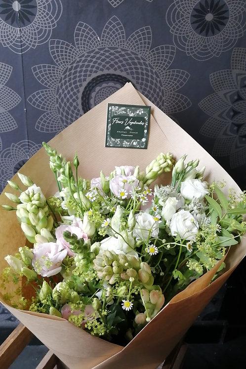 Bouquet champêtre blanc ~ 3 tailles