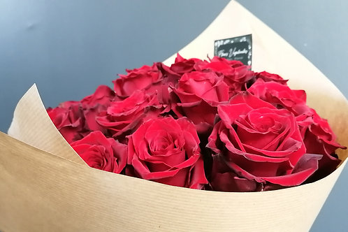 Bouquet roses rouge ~ 3 tailles