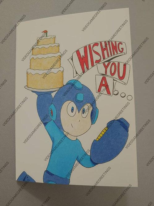 MEGA MAN Birthday Card