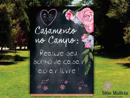 CASAMENTO NO CAMPO: REALIZE O SEU SONHO DE CASAR AO AR LIVRE!