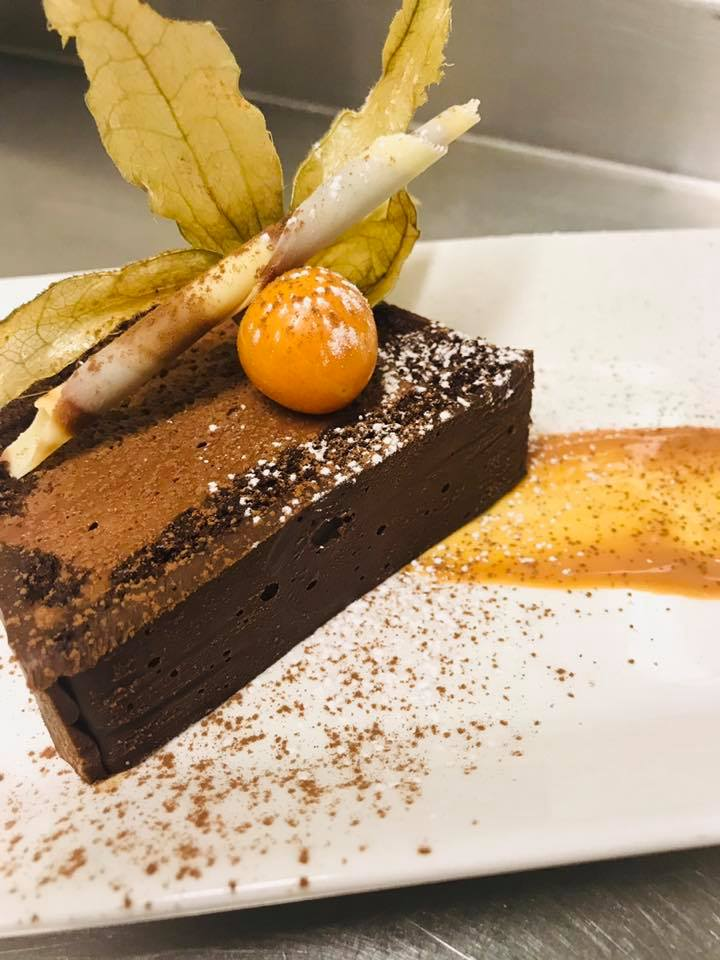 Choclate Moussecake with Salted Caramel