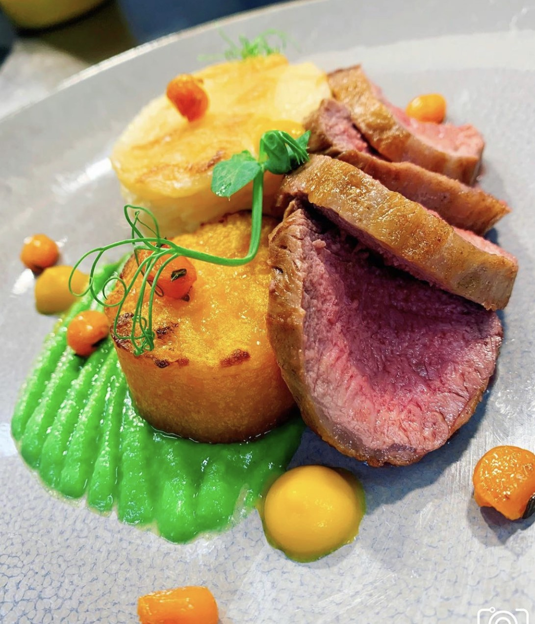 loin of lamb fillet, parsnip dauphinoise