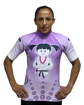 Rash Guard Senki Girl Fight Lilás