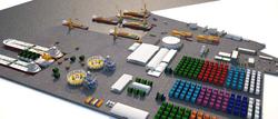 Maquete eletrônica industrial