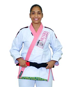 Kimono Senki Girl Alvejado Gola Rosa