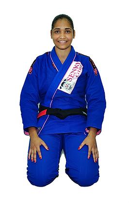 Kimono Senki Girl Azul c/ Friso Rosa