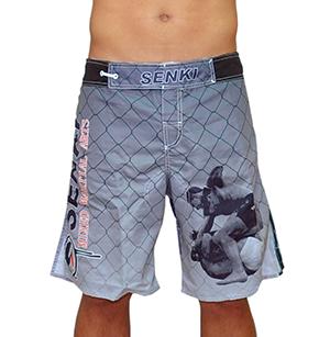Short MMA Senki Brasil - Cinza