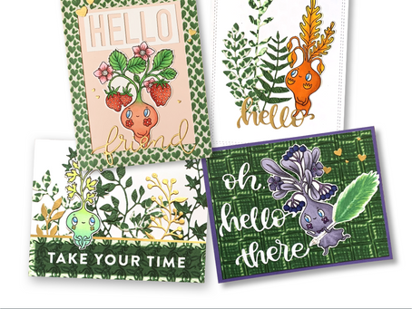 Garden Sprites Hello Cards - Thoughtful Studio