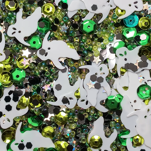 Ghostly Green Sequin Mix