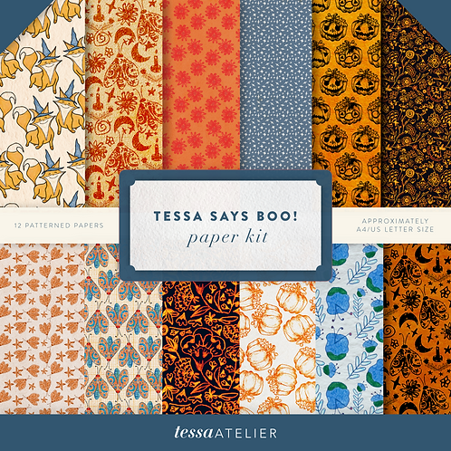 Tessa says BOO! - PHYSICAL PAPER KIT