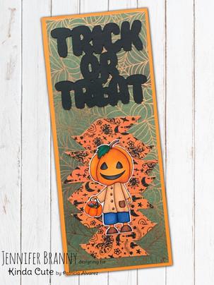 Pumpkin Boy Slimline - Kinda Cute Digi
