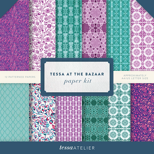 Tessa at the Bazaar - PHYSICAL PAPER KIT