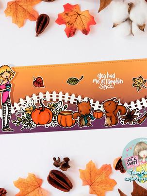 Pumpkin Patch Slimline Card - Not 2 Shabby