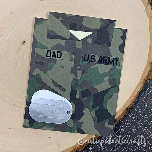 Army Uniform Card Cut File