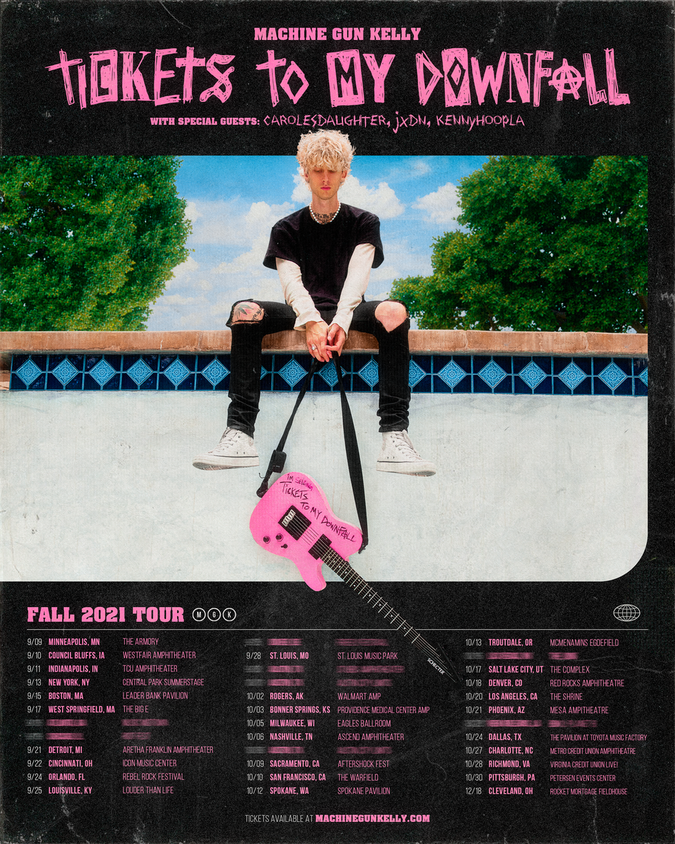 Tickets to my Downfall Tour