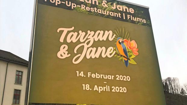 Werbebanner Tarzan & Jane