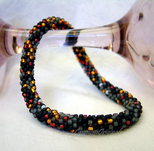 Bead Crochet Bracelet, Smolder