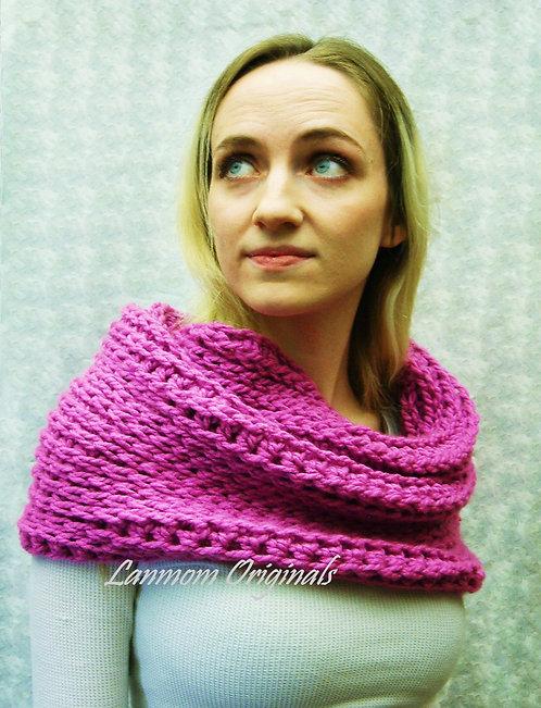 Chunky Cowl, Crochet Infinity Scarf Hood - Sierra