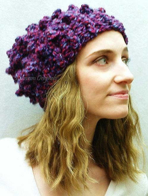 Slouchy Hat, Crochet Beanie - Olivia