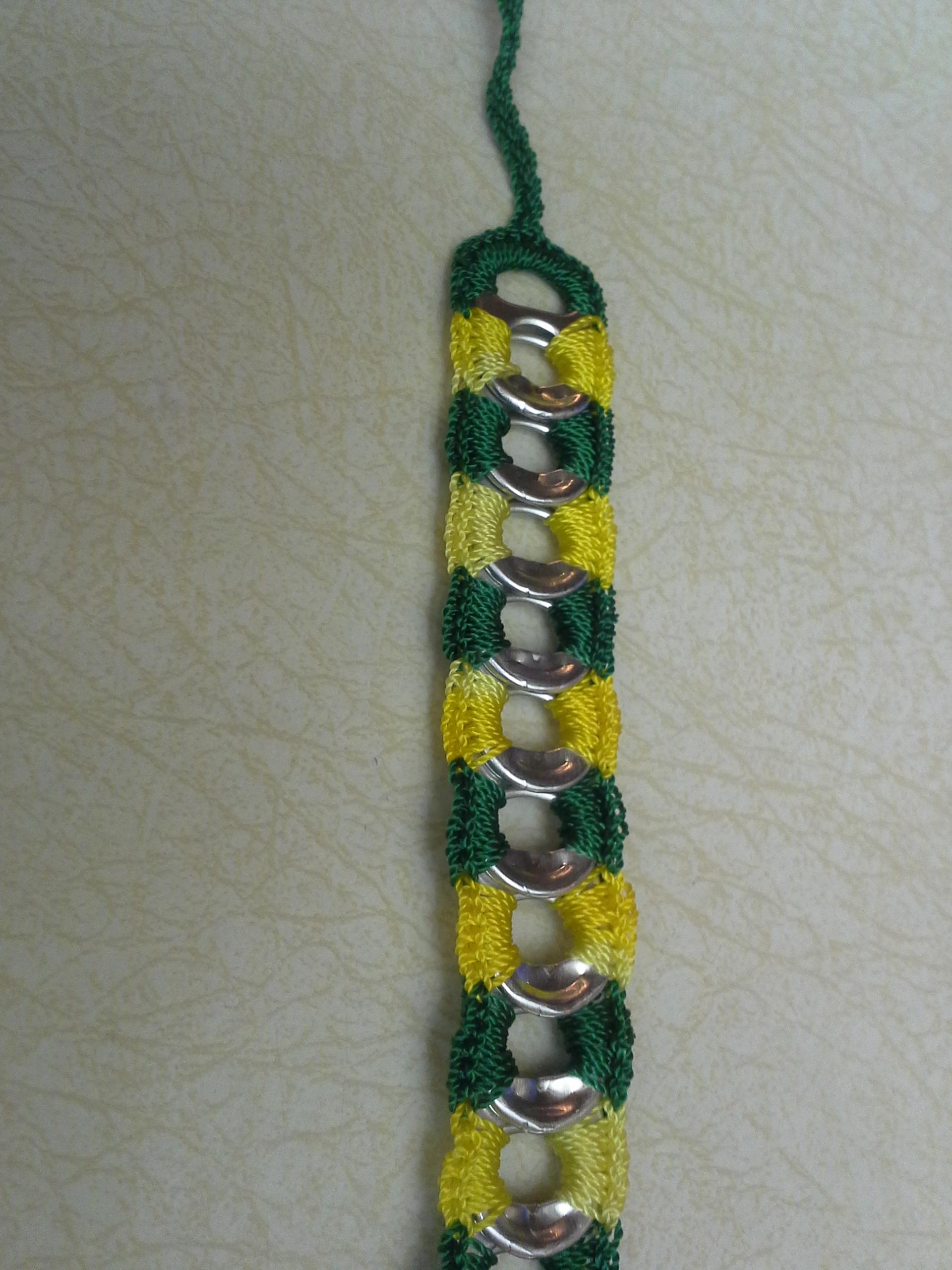 Yellow and Green ReCycladelic bracelet